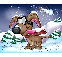 Snow Pup With Oakley Glasses Photographic Print