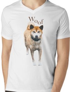 Woof - Copper Husky Mens V-Neck T-Shirt