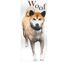 Woof - Copper Husky Poster