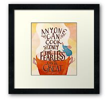 Anyone Can Cook Framed Print