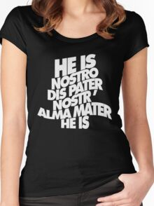 HE IS - solid white Women's Fitted Scoop T-Shirt