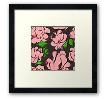 Flower acrylic pattern pink Framed Print