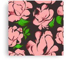 Flower acrylic pattern pink Canvas Print