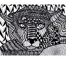 Leopard Zentangle Photographic Print