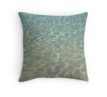 simply clean sea water Throw Pillow