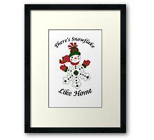 Cute Snowflake Snowman Framed Print