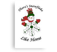 Cute Snowflake Snowman Canvas Print