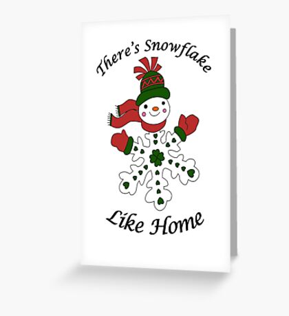 Cute Snowflake Snowman Greeting Card