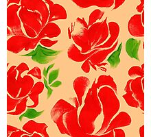 Flower acrylic pattern red Photographic Print