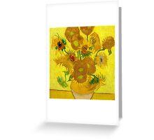 Sunflowers, Vincent van Gogh Greeting Card