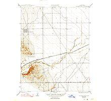 USGS TOPO Map California CA Guijarral Hills 296138 1936 31680 geo Photographic Print