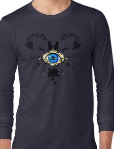 I Dream In Color - Black Silhouettes on White Long Sleeve T-Shirt