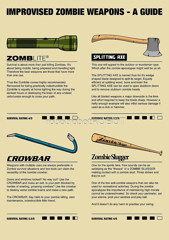 Improvised Zombie Weapons - A Guide by robotrobotROBOT