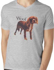 Woof - Spaniel Mens V-Neck T-Shirt