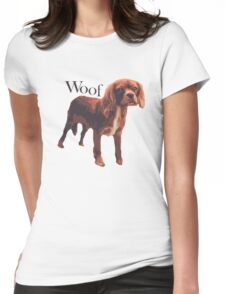 Woof - Spaniel Womens Fitted T-Shirt