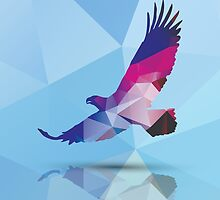 Geometric polygonal eagle, pattern design by BlueLela
