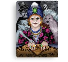Madame Lovina's Haunted Talking Board Canvas Print