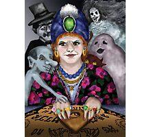 Madame Lovina's Haunted Talking Board Photographic Print