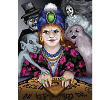 Madame Lovina's Haunted Talking Board Photographic Print