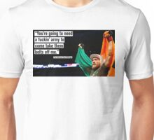 """Conor McGregor - """"You'll need a fuckin' army"""" Unisex T-Shirt"""