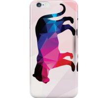 Geometric polygonal leopard, pattern design iPhone Case/Skin