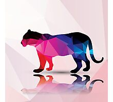 Geometric polygonal leopard, pattern design Photographic Print