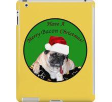Merry Bacon Christmas Pug iPad Case/Skin