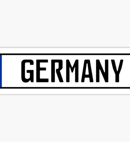 Germany Kennzeichen Sticker