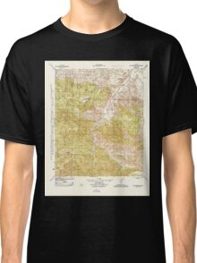 USGS TOPO Map California CA Fox Mountain 296103 1944 31680 geo Classic T-Shirt