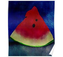 Funky Watermelon Poster