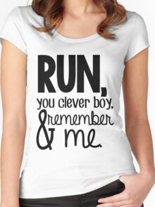 """Run, you clever boy, and remember me."" - Clara Quote Women's Fitted Scoop T-Shirt"