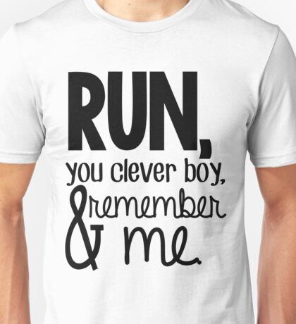 """Run, you clever boy, and remember me."" - Clara Quote Unisex T-Shirt"