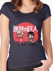 Attack on Somebody Your Own Size! Women's Fitted Scoop T-Shirt
