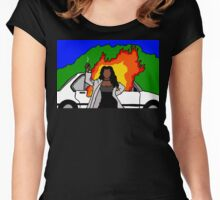 Waiting  2 Exhale Women's Fitted Scoop T-Shirt