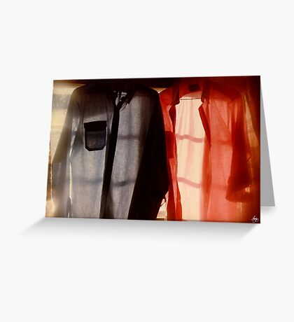 Two Shirts in a Window, Study Number 1 Greeting Card