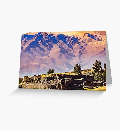 Sacred Valley Ruins Greeting Card
