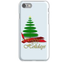 Christmas Tree with Red Ribbon iPhone Case/Skin
