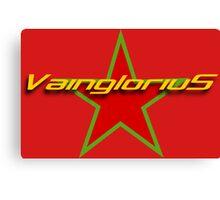 Vainglorius Moorish Flag Tee Canvas Print