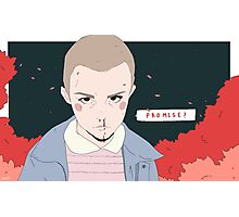 Promise?- Eleven from Stranger Things Photographic Print