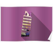 World landmark, Leaning Tower of Pisa, Italy Poster