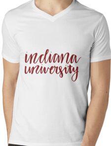 indiana university Mens V-Neck T-Shirt