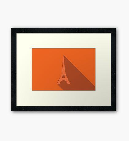 World landmark, Eiffel Tower, Paris, France, Europe Framed Print