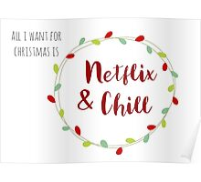 Netflix and Chill for Christmas Poster