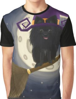 Pomeranian Witch  Graphic T-Shirt