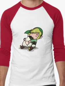 Power, Courage, Wisdom-nom-nom Men's Baseball ¾ T-Shirt