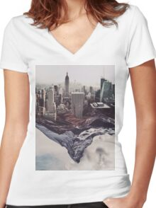 Contradiction Women's Fitted V-Neck T-Shirt