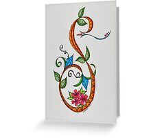 Letters - S/1 Greeting Card