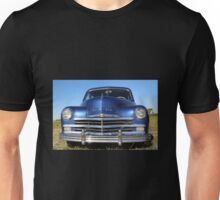 Blue Plymouth Antique Muscle Car Unisex T-Shirt