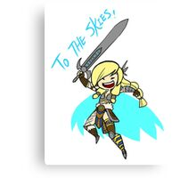 Smite - To the skies (Chibi) ver.2 Canvas Print