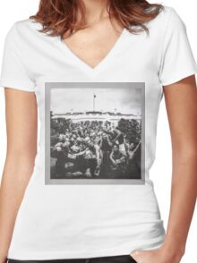 Kendrick Lamar - To Pimp A Butterfly Album Cover Art Women's Fitted V-Neck T-Shirt